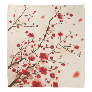Oriental style painting, plum blossom in spring bandana