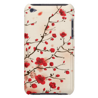 Oriental style painting, plum blossom in spring barely there iPod cover