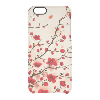 Oriental style painting, plum blossom in spring clear iPhone 6/6S case