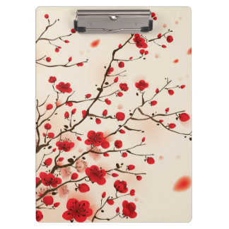 Oriental style painting, plum blossom in spring clipboard