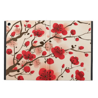 Oriental style painting, plum blossom in spring iPad air case