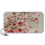 Oriental style painting, plum blossom in spring iPod speakers
