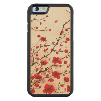 Oriental style painting, plum blossom in spring maple iPhone 6 bumper case