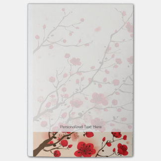 Oriental style painting, plum blossom in spring post-it notes