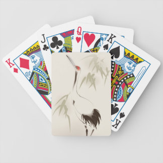 Oriental style painting, Red-crowned Crane Bicycle Playing Cards