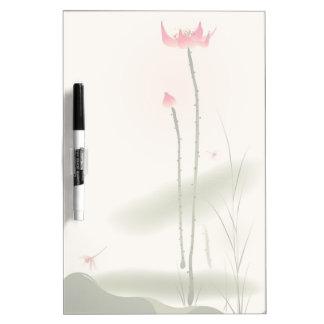 Oriental style painting, tall Lotus Dry Erase Board