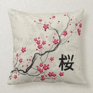Oriental Style Sakura Cherry Blossom Art Cushions