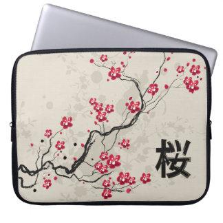 Oriental Style Sakura Cherry Blossom Art Laptop Sleeve