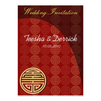Oriental style Wedding Invitation card