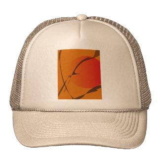 Oriental Sunset Japanese Wood Block Print Style Trucker Hat