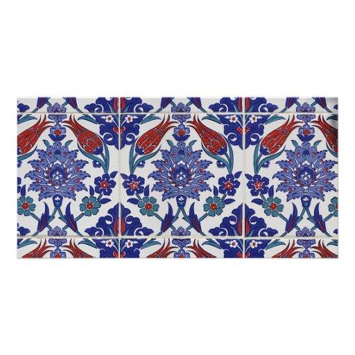 oriental-tile-pattern photo cards