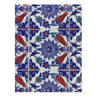 oriental-tile-pattern postcard