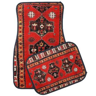 Oriental tribal carpet pattern car mat