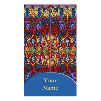 Oriental Watercolor Pattern I + your text Business Cards