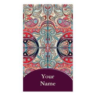 Oriental Watercolor Pattern II + your text Business Cards