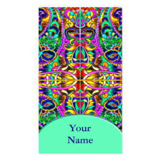 Oriental Watercolor Pattern III + your text Business Card Templates