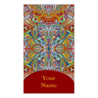 Oriental Watercolor Pattern IV + your text Business Card Templates