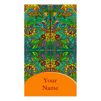 Oriental Watercolor Pattern V + your text Business Card Template
