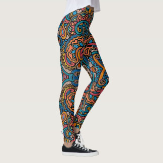 Oriental Watercolor Pattern VI + your ideas Leggings