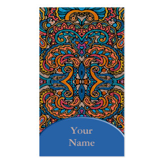 Oriental Watercolor Pattern VI + your text Business Card Template