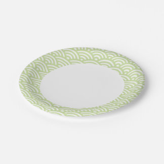 Oriental wave background paper plate