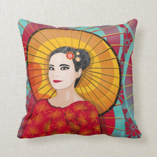 Oriental Woman pillow