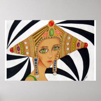Orig. Art Poster--Art Deco/Asian Painting Poster
