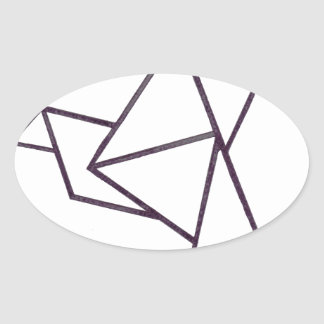 Origami bird.jpg oval sticker