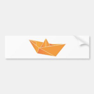 Origami Boat Bumper Sticker