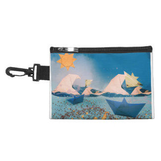 Origami boats&fishes cosmetic bag