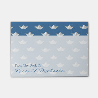 Origami Boats On The Water Pattern   Add Your Name Post-it® Notes