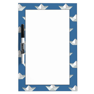 Origami Boats On The Water Pattern Dry Erase Board