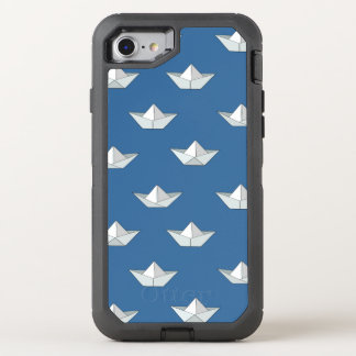 Origami Boats On The Water Pattern OtterBox Defender iPhone 8/7 Case