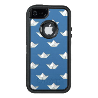 Origami Boats On The Water Pattern OtterBox iPhone 5/5s/SE Case