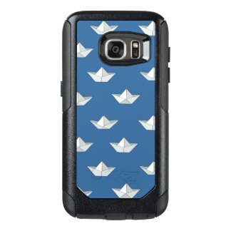 Origami Boats On The Water Pattern OtterBox Samsung Galaxy S7 Case