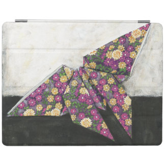 Origami Butterfly on Floral Paper iPad Cover