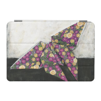 Origami Butterfly on Floral Paper iPad Mini Cover