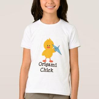 Origami Chick Girls Ringer Tee Shirt