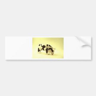 Origami cow bumper sticker