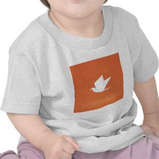 Origami Crane Bird orange Color Graphic Design Tees