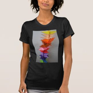 origami crane chain t-shirt