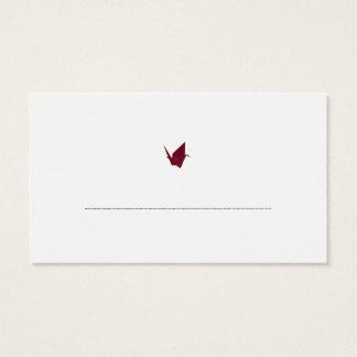 Origami Cranes Guest Table Escort Cards