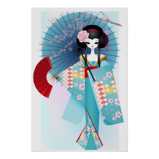 Origami Doll Poster