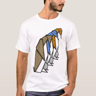 Origami Emperor Penguins T-Shirt