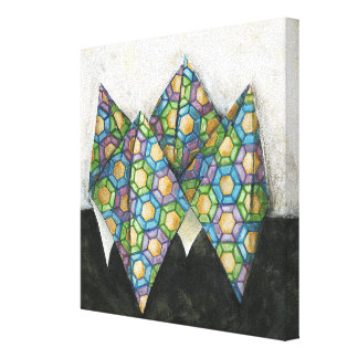 Origami Fortune Teller on Geometric Paper Canvas Print