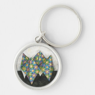 Origami Fortune Teller on Geometric Paper Key Ring