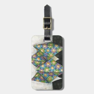 Origami Fortune Teller on Geometric Paper Luggage Tag