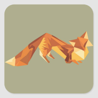 Origami fox sticker