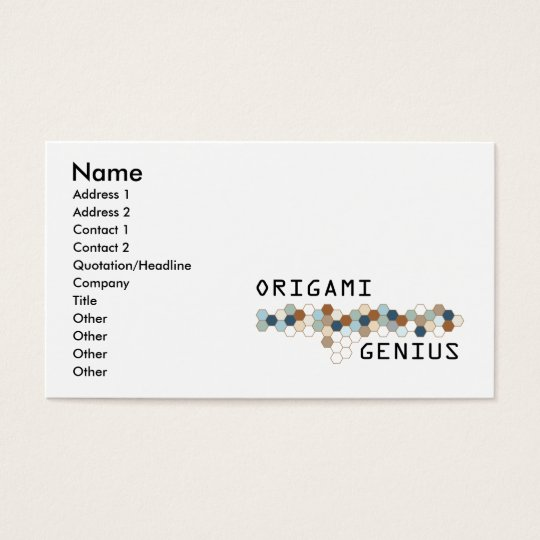 Origami Genius Business Card