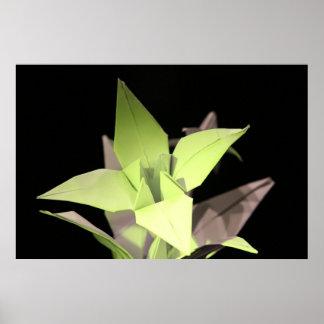 Origami iris poster